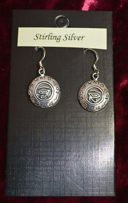 Hallmarked 925 Sterling Silver Eye of Horus Pagan/Wiccan/Druid/Gothic