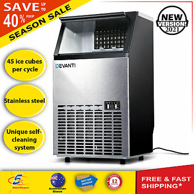 Commercial Ice Cube Maker Machine Auto Home Business Café Portable Domestic