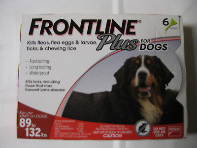 Frontline Plus Flea And Tick Control For Dogs 89-132 Lb 6 Month Supply- Usa