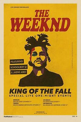 New THE WEEKND King Of The Fall Rap Music Singer Fabric Poster X-160-14x21 24x36