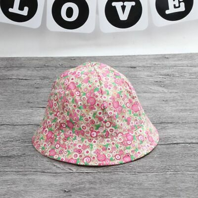 Baby Flower Print Cute Beach Sun Cap Visor Outdoor Hats Double Sided Can HotSale