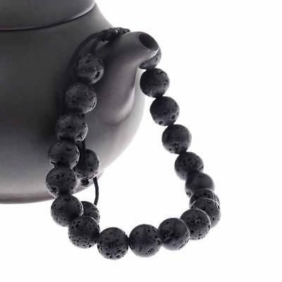Lucky Stretch Lava Rock Beads Yoga Gemstone Bracelet Mala Bangle Adjustable
