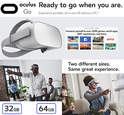 Oculus Go Standalone All-In-One VR Headset Virtual Reality Without Any PC