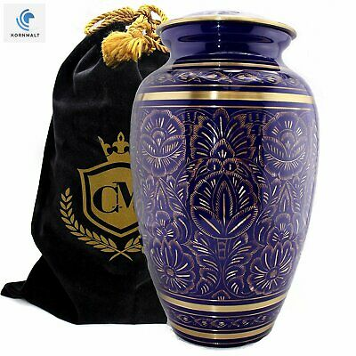 Majestic Radiance 100% Brass Cremation Urn for Human Ashes (Purple, Large/Adult)