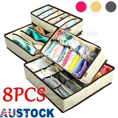OZ 4Pcs/set Underwear Bra Socks Ties Drawer Closet Divider Organiser Box Storage