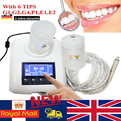 Dental Ultrasonic Piezo Scaler LCD Touch Screen+2 Bottles 6 Tips Work With EMS