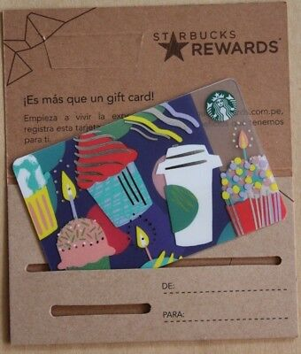 PERU south america only staff employees STARBUCKS gift card RARE CASE NEW PIN