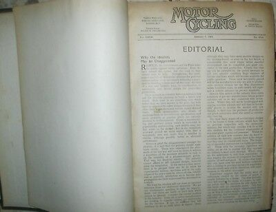 * Motorcycling Motor-Cycling magazine 1943  bound year 52 issues 1728-1779 RARE