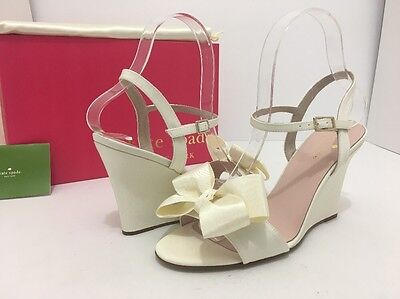 475f959f9895 Kate Spade Iballa Ivory Evening Women s Wedge High Heels Sandals Size US ...