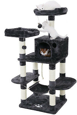 SONGMICS Cat Tree Condo With Scratching Posts Kitty Tower Furniture Pet Play