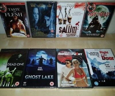 8 x Horror,Ghost,Zombie,Mystic Movies Bundle - All New & Sealed