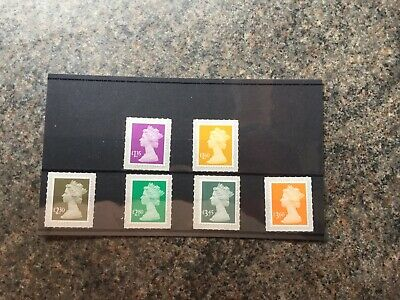 Gb 2019 Self Adhesive Machin Definitives Set Of 6 Stamps Mnh.new Issue 19 3 2019