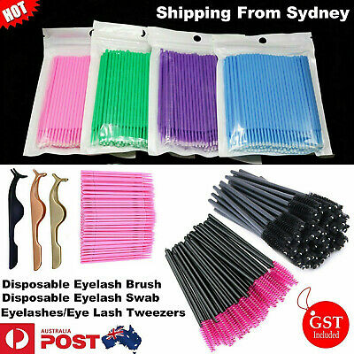 Disposable Eyelash Swab Applicator Micro Eyelash Brush Mascara Tools Extension A