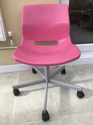 Outstanding Ikea Snille Pink Swivel Desk Chair Pre Owned 5 00 Machost Co Dining Chair Design Ideas Machostcouk