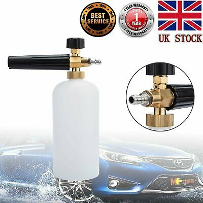 Car Snow Foam Lance Cannon with 1Lt Bottle Spray High Pressure Washer Jet 1/4