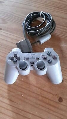 Official Sony Playstation One Ps1 Dual Shock Controller (Grey)