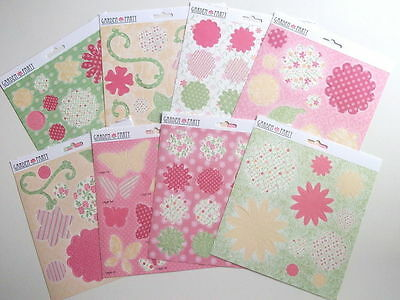 """Dovecraft 'Garden Party' 8"""" x 8"""" Decoupage Papers 8 SHEETS"""