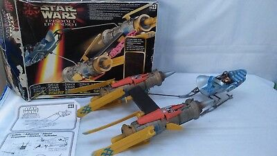 1999 Star Wars Episode 1 ANAKIN SKYWALKER POD RACER & FIGURE Phantom Menace Toy
