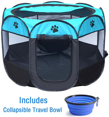 ZuHucpts Indoor Outdoor Dog Pet Playpen / Portable Foldable Puppy Cat Exercise