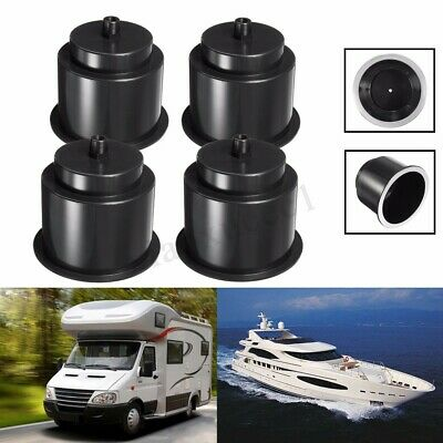 4x Universal ABS Black Plastic Cup Drink Holder For Marine Boat Truck Camper