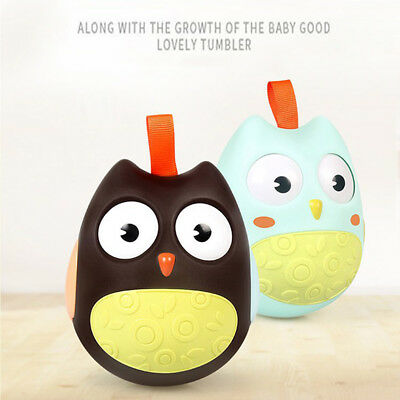 Cute Baby Nodding Moving Eyes Owl Bell Baby Rattles Kids Tumbler Bedside Toys 9L