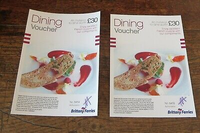 Brittany Ferry Food Meal Gift Card Vouchers  Couponsto Value Of £60 For £40