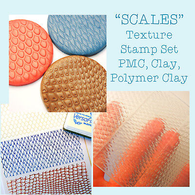 Texture Stamp Texture Mat for Polymer Clay, PMC and Ceramics by Blossom Stamps