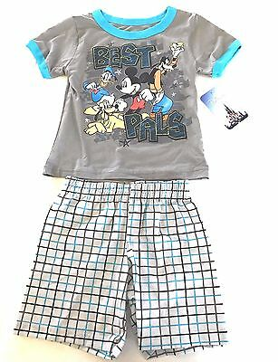 Disney Best Pall Toddlers Shirt & Plaid Shorts Set New with Tags Size 2 T