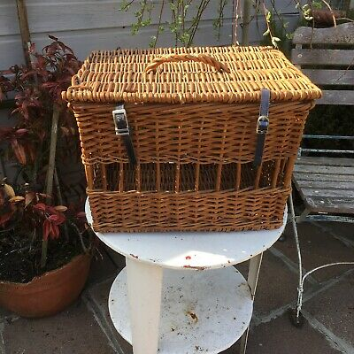 Vintage Wicker Cat Small Animal Basket Carrier