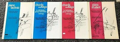 Lot 4 David Carr Glover Piano Study Books, 2 Level 1 & 2 Level 2, Chords & Keys+