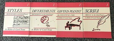 "Lot of 4 ""Gifted Pianist"" Books by Walter & Carol Noona, Level 1 Piano Study"