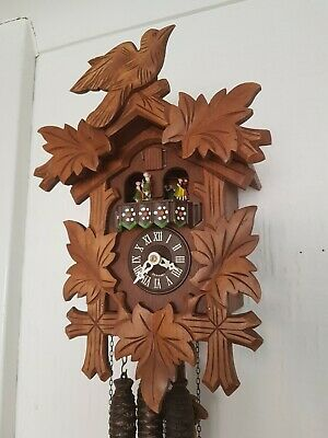 STUNNING  BLACK FOREST  MUSICAL  CUCKOO  CLOCK / Fully  Servised/VERY Clean