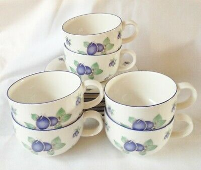 Royal Doulton Blueberry Tea Cups and Saucers