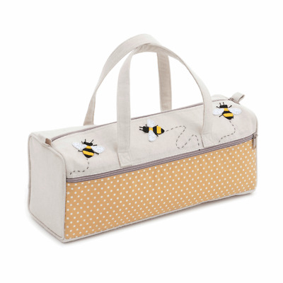 BUMBLE BEE KNITTING BAG complete accessories kit scissors tape measure needles