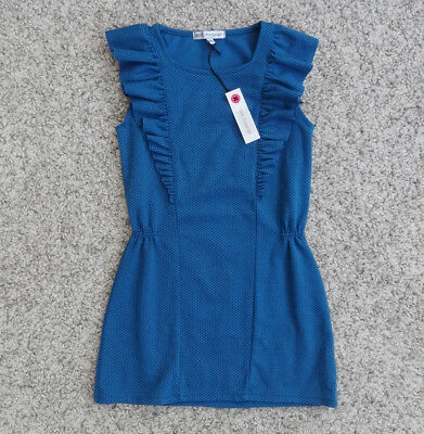 M&S Marks & Spencer Autograph Polka Dot Dress in Teal Blue Green Age 9 NEW BNWT