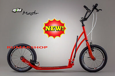 wow NIEUW ORIGINAL MIBO MASTR HANDMADE SCOOTER ROLLER STEP red