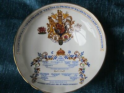 Aynsley Commemorate Dish Diana/charles Marriage