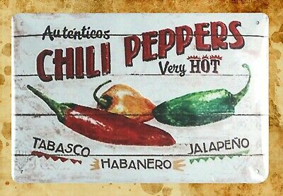 HOT PEPPERS metal sign hot sauce restaurant jalapeno great gift wall decor 448