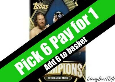 Topps - WWE Champions - 2019 Trading Cards - Base Cards x 1