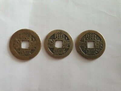 X3 Very Old Chinese Coins Rare Early Collectable Ancient Cash Coins  👀 Reduced