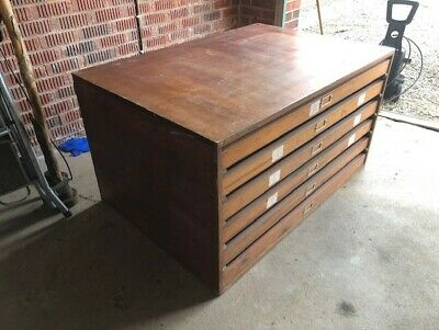 Vintage Plan / Map / Artists / Architects Chest, 6-drawer cabinet