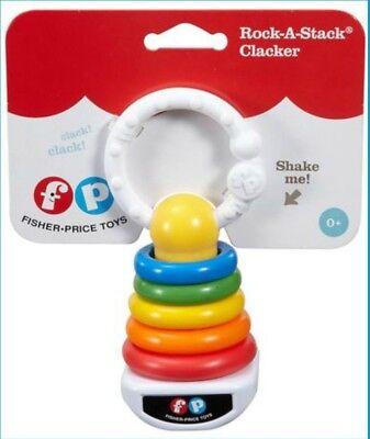 Fisher-Price Rock-A-Stack Clacker DFR09 Baby Rattle, Toy, Cake Topper