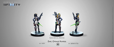 Infinity Corvus Belli Aleph Dart Optimate Huntress metal new