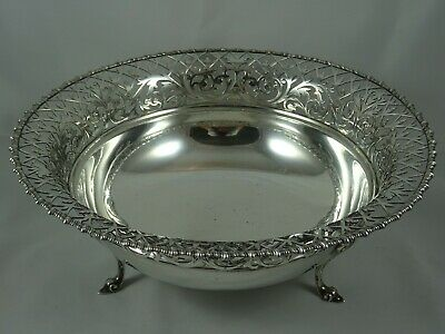 LARGE solid silver FRUIT BOWL, 1919, 962gm