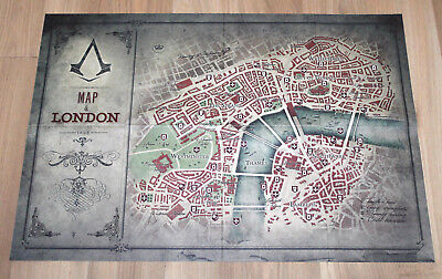Assassin S Creed Syndicate Poster London Map 54x38cm Playstation
