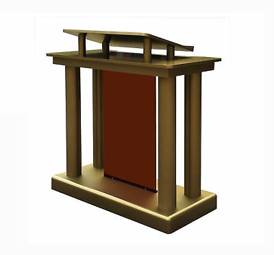 Deluxe Podium Floor Standing Lectern Church Pulpit w/ Elevated Reading Surface