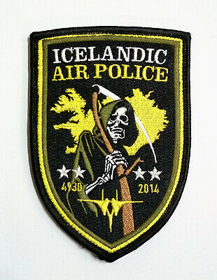 USAF 493 FS Fighter Squadron LAKENHEATH F-15 Icelandic Air Police patch