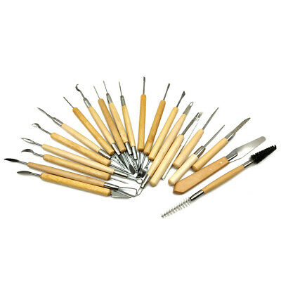 22PC Clay Sculpting Pottery Carving Tool Set Shaper Modelling Sculpture Knife AU