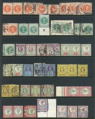 1887-1900 Scarce lot JUBILEE issue MH + used incl. £1 green Cat £2697