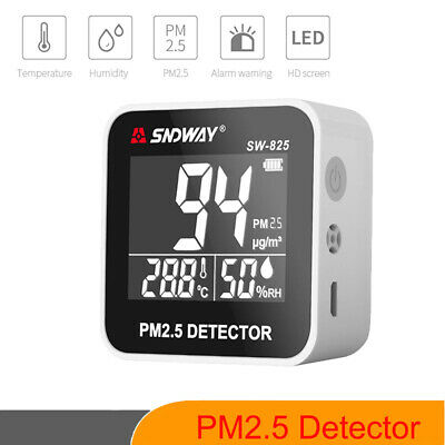 SNDWAY LCD Portable PM2.5 Detector Gas Analyzer Gas Detector Air Quality Meter